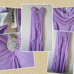 Tawny formal dress